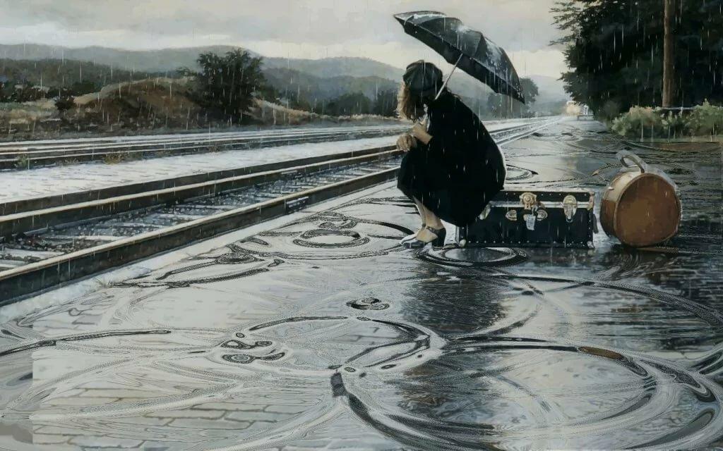 Днем, гифки дождь идет