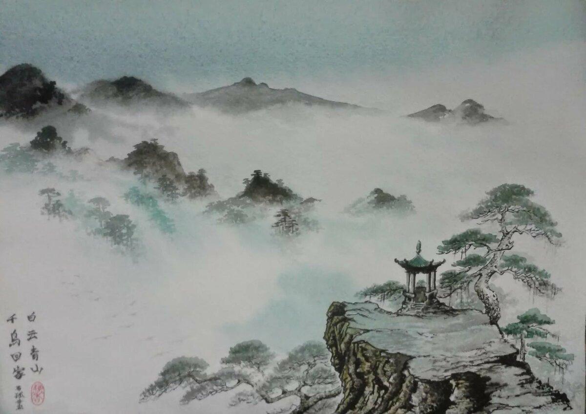 Китайская живопись в картинках, днем мамы
