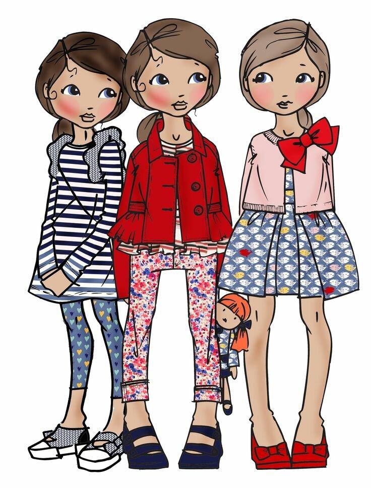 Картинки с одеждой мультяшек