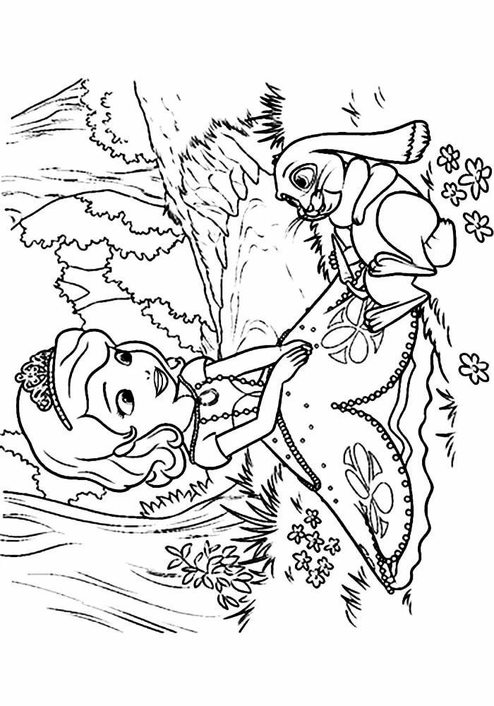 «Детские раскраски принцесса София распечатать формат а4 ...