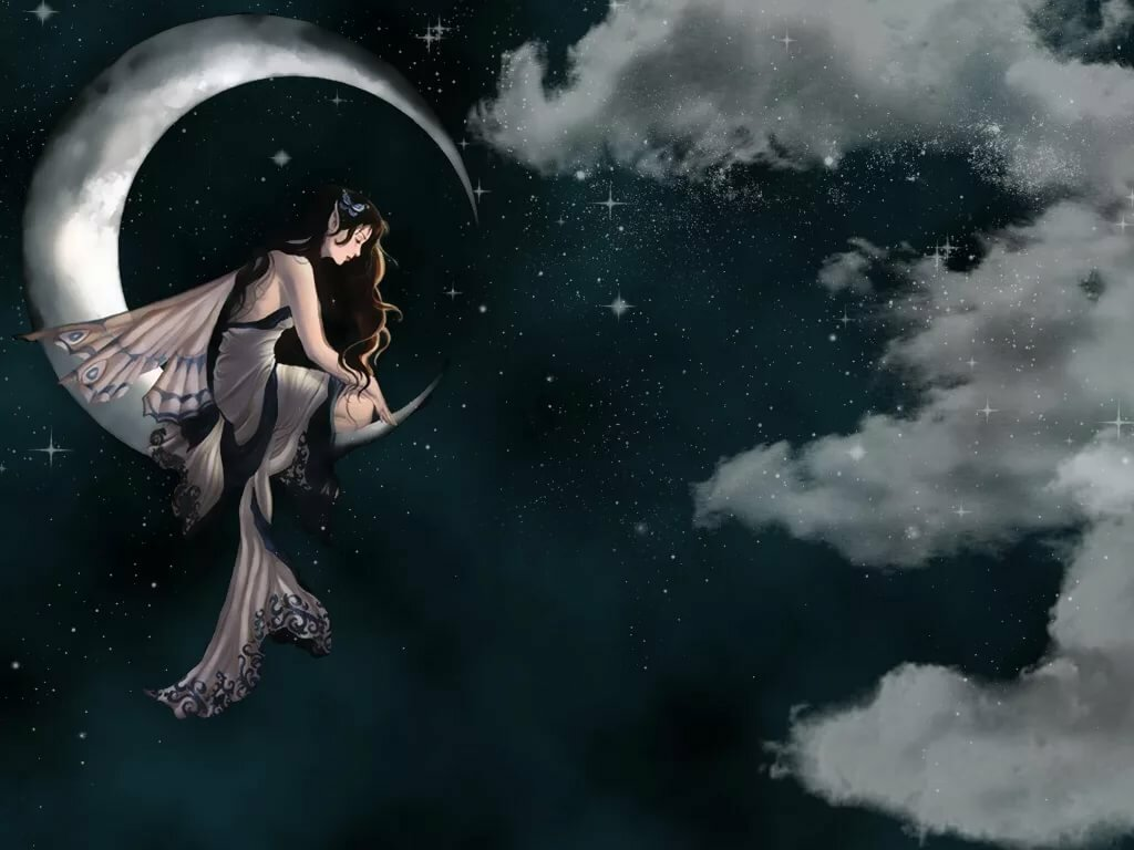 Открытки девушка на луне, лет знакомства