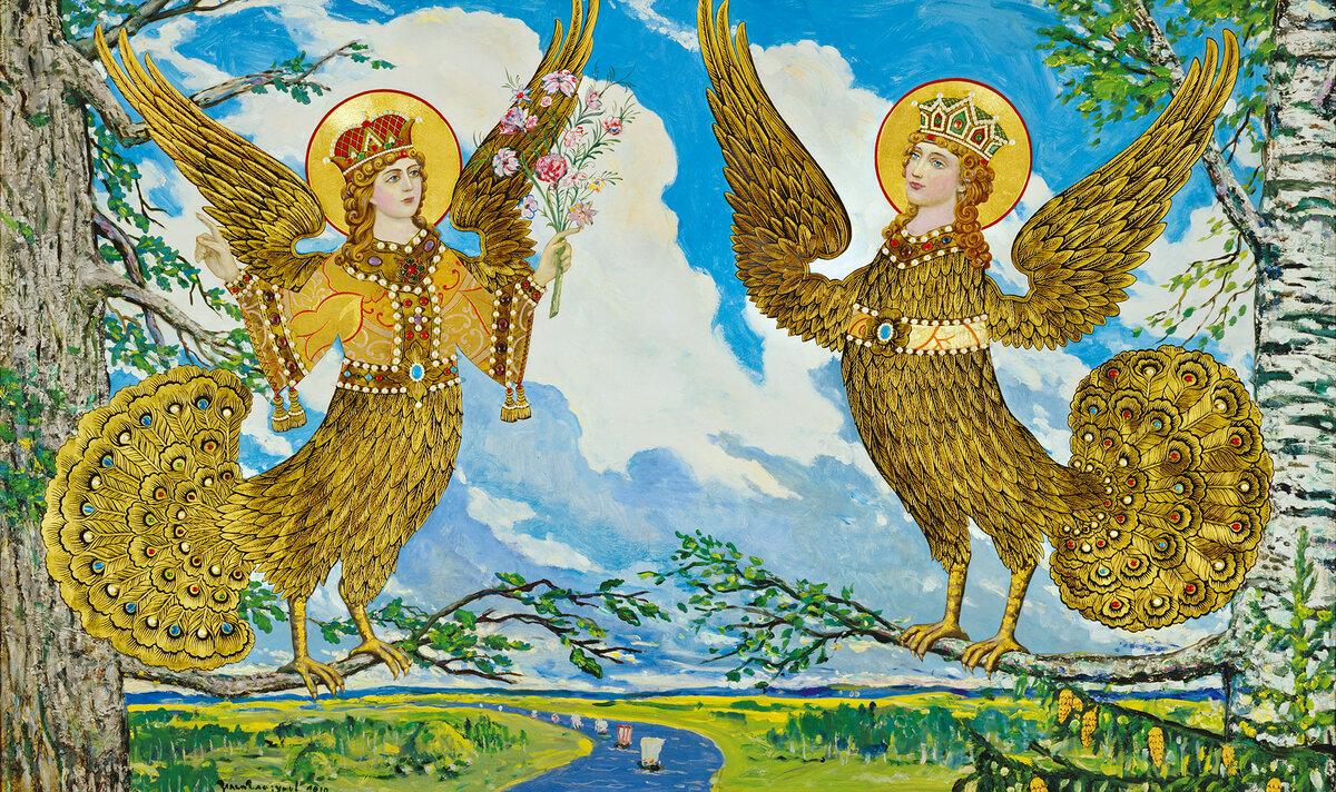 ответы мифические птицы древних славян изображения видно