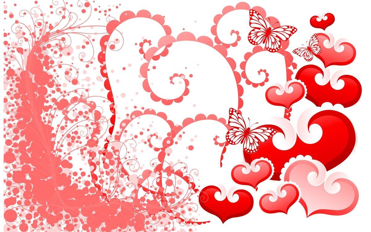 Открытка с рисунком сердечка
