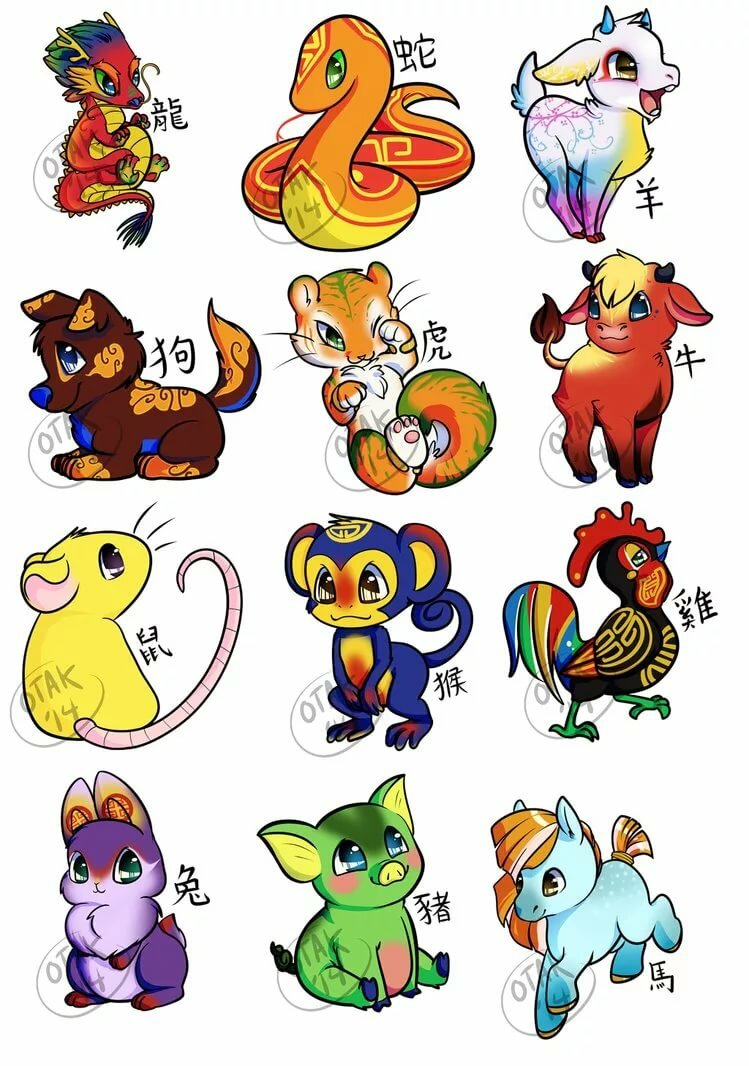 Картинки с зодиакальными животными