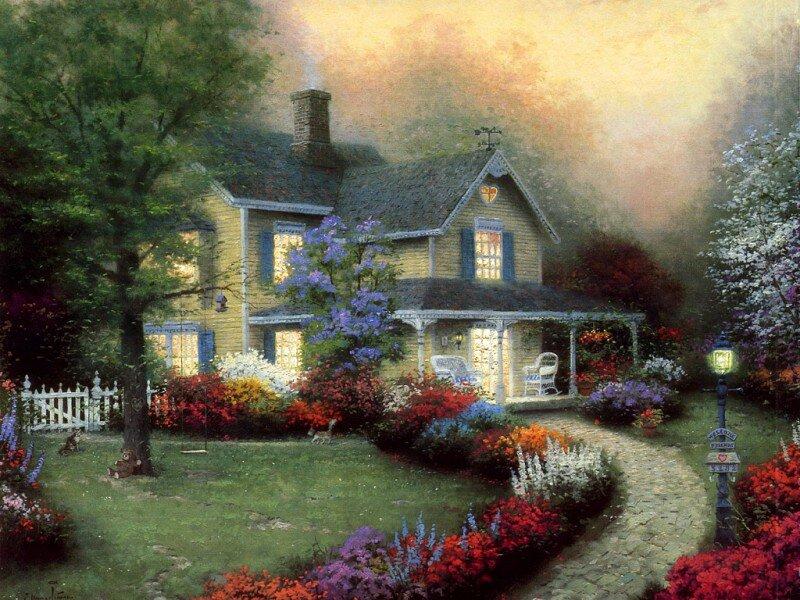 Дом открытки, открыток