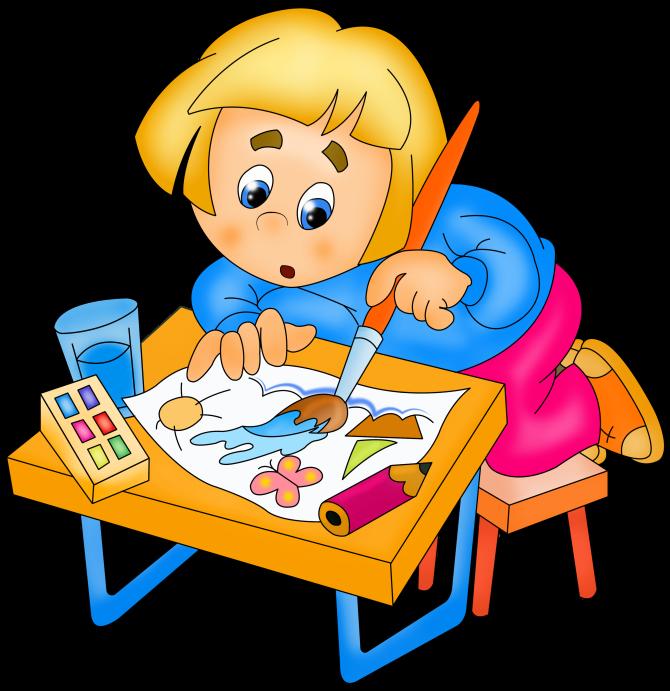 Картинки дети рисуют