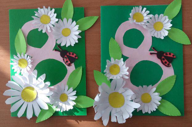Открытка для мамы своими руками на 8 марта в начальной школе