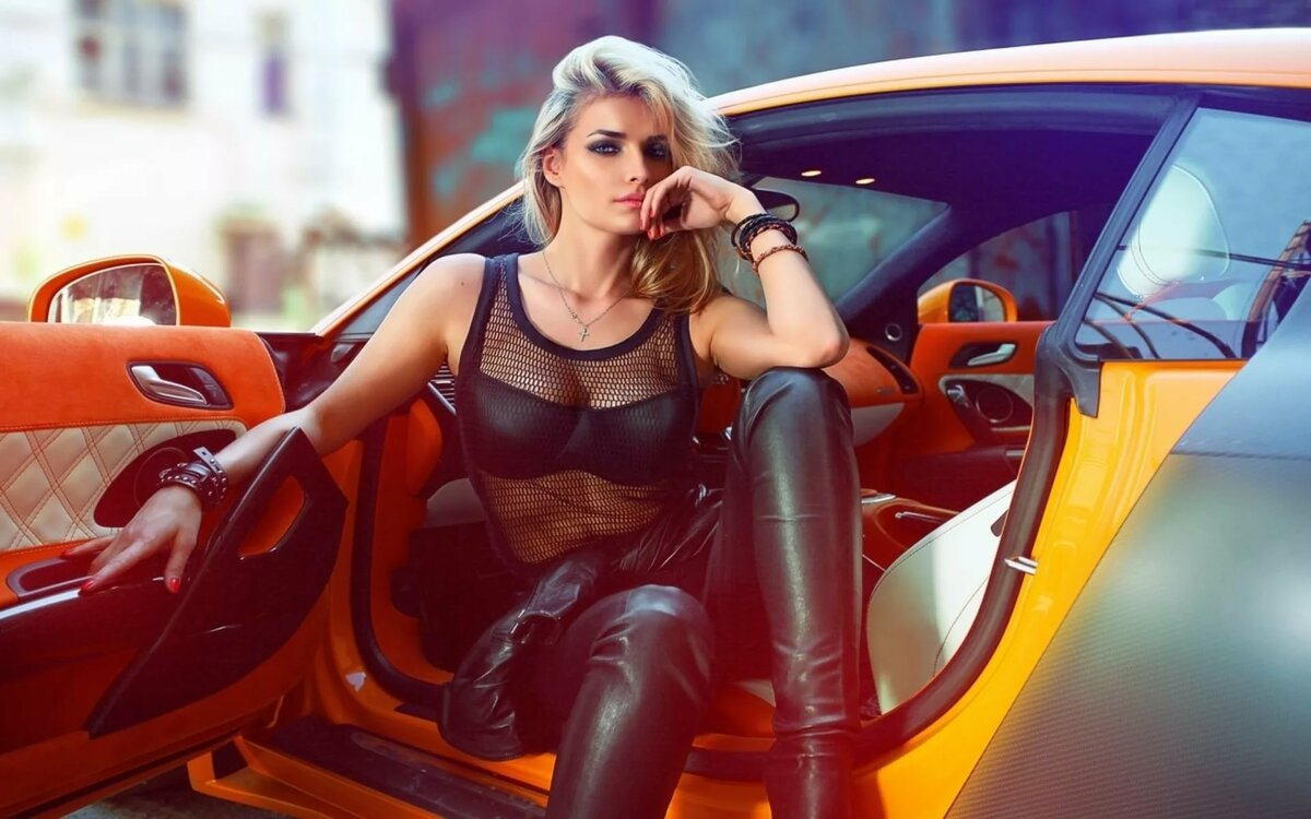 Teen girl sexy girl cars most