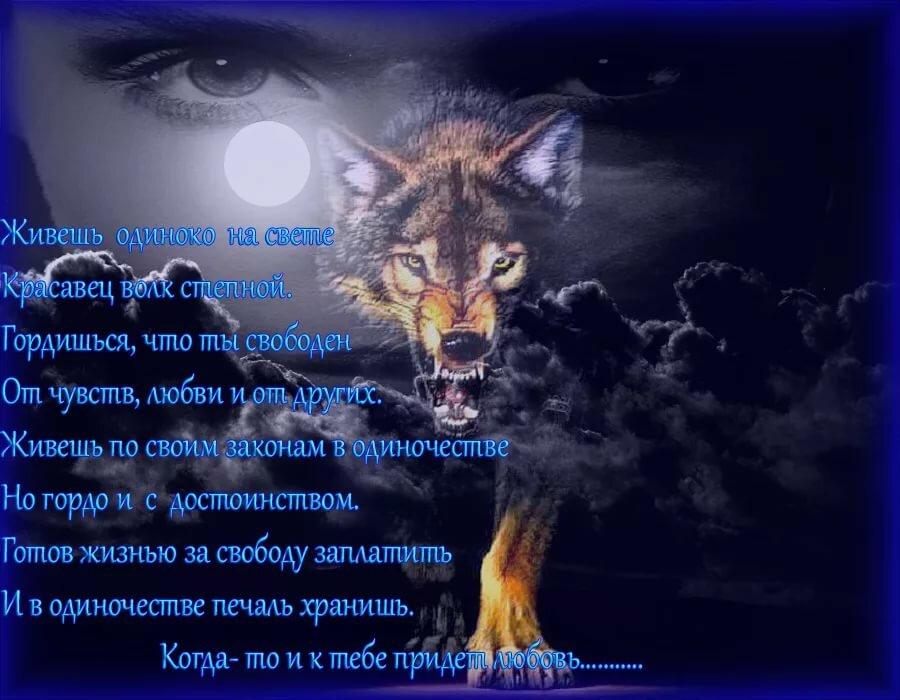 Картинки с волками с надписями о любви