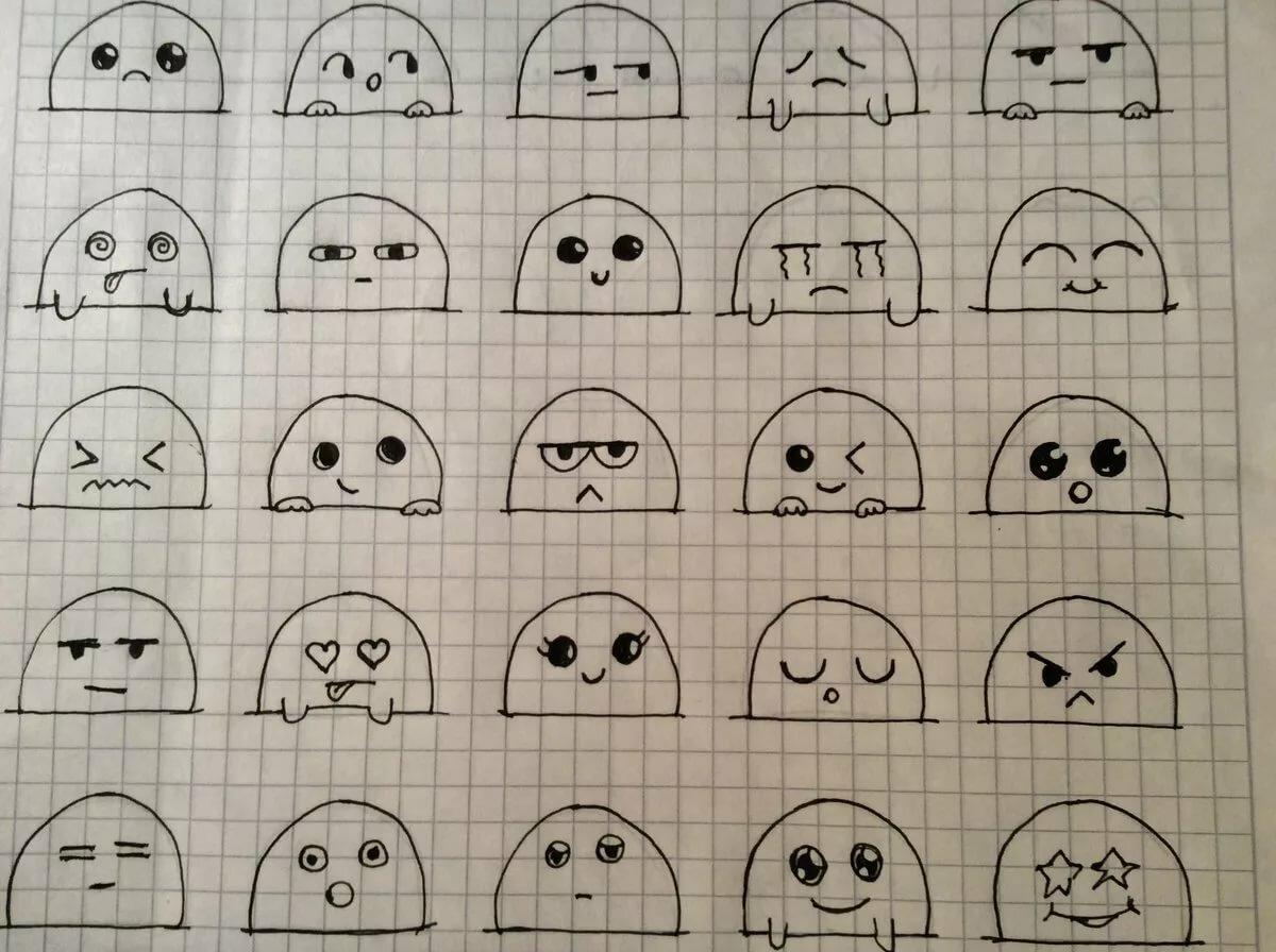 Анимация, легкие и прикольные рисунки карандашом для личного дневника