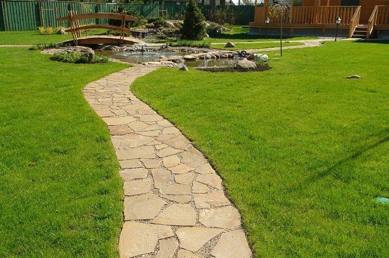 садовые дорожки из камня фото для