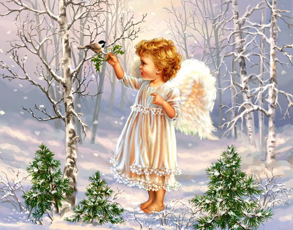 Дню, рождественские картинки ангелочки