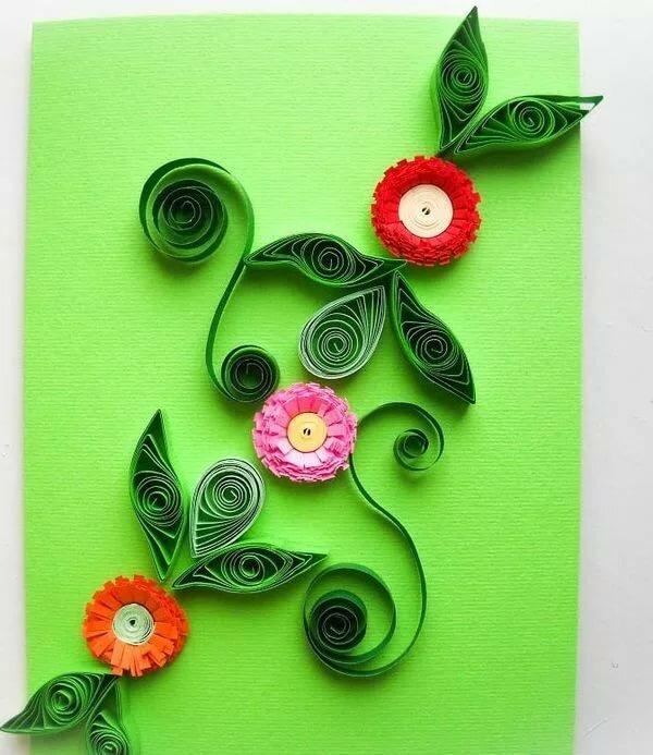 Квиллинг открытка для ребенка