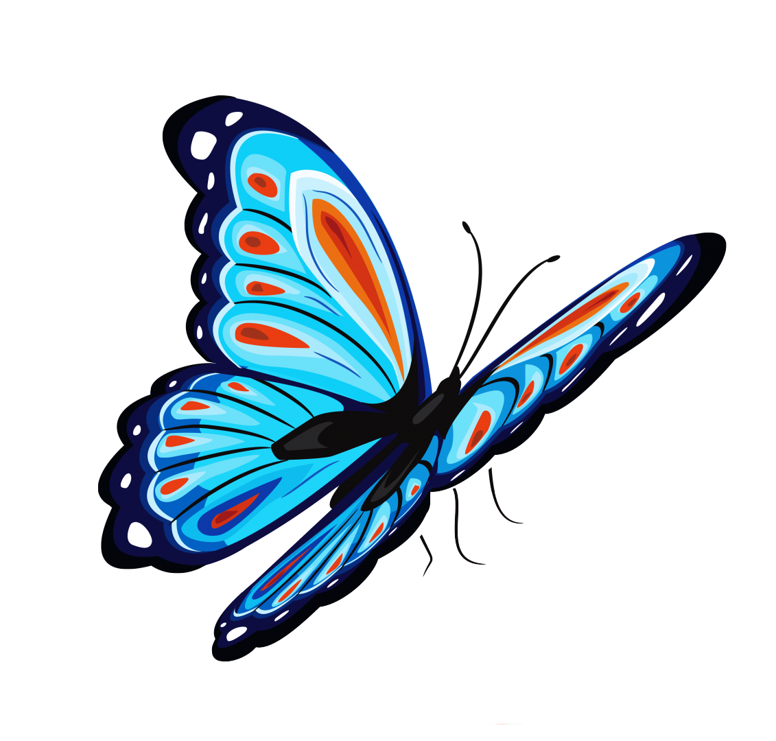 Картинка бабочки анимация на прозрачном фоне, самому желанному любимому