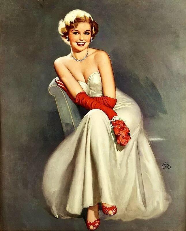 Образ женщины в открытке