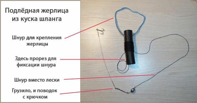 Как сделать жерлицы из шлангов