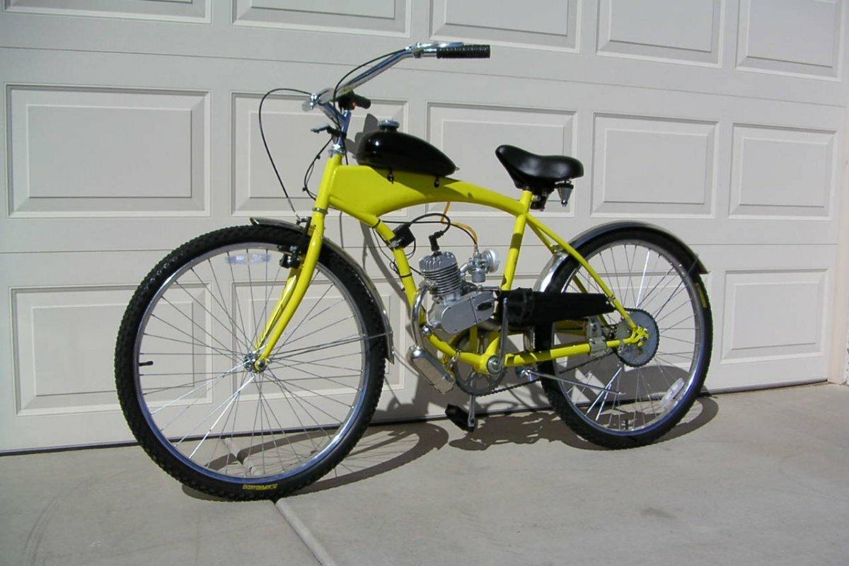 Городской велосипед с мотором