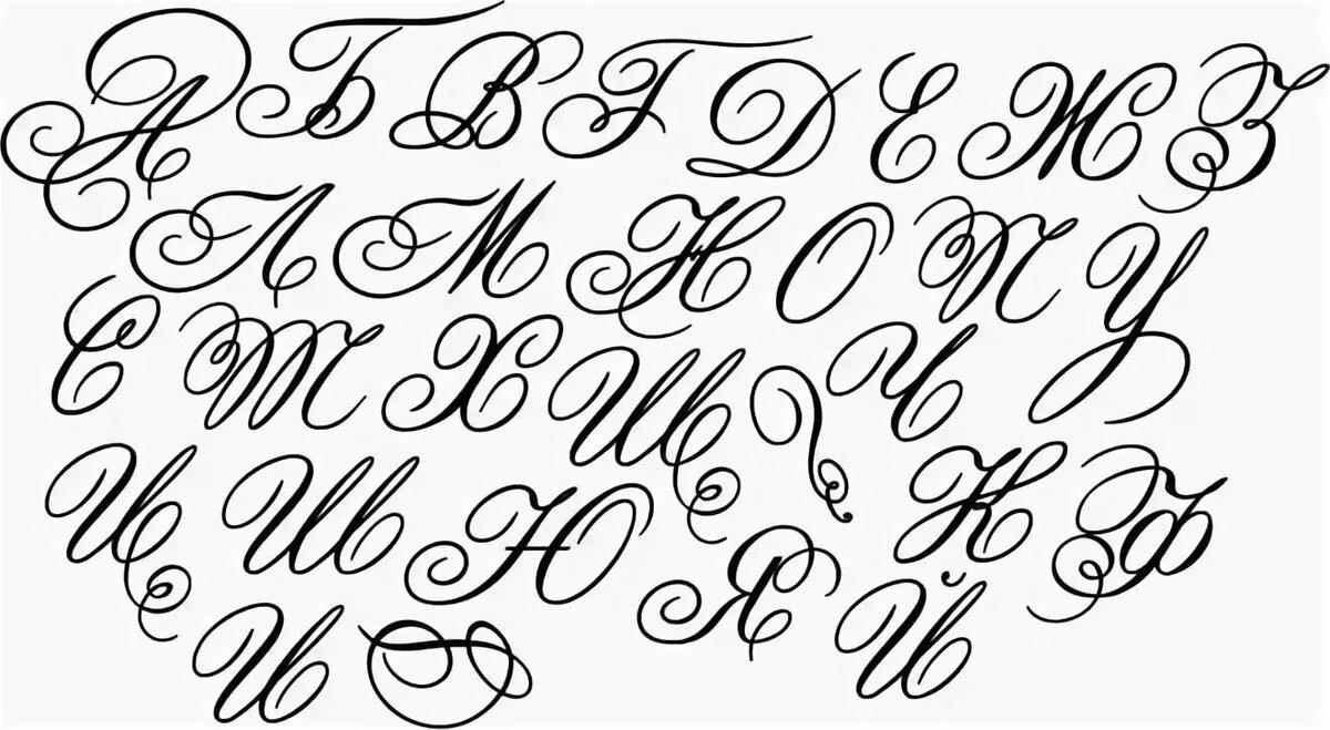 Буквы для подписи открыток, почтовые