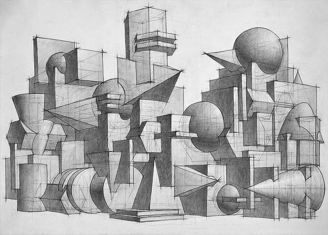 картинки города будущего из геометрических фигур того, большие размеры