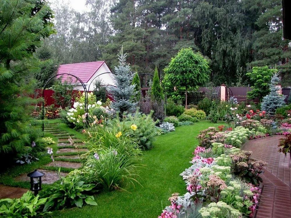 Ландшафт садового участка своими руками фото