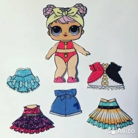 Картинки кукол лол с одеждой
