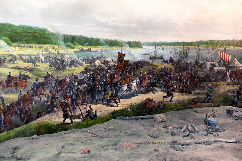 Невская битва в картинках, открытки