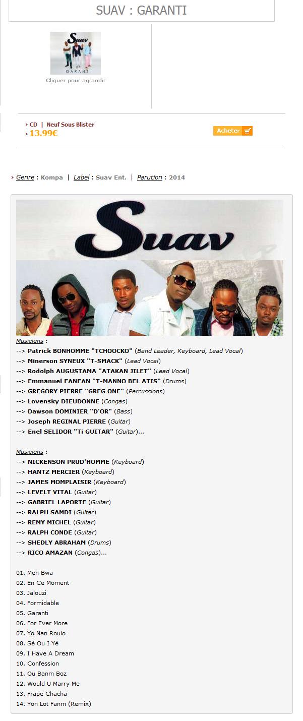 SUAV : Garanti - Antilles-Mizik.com Optimize