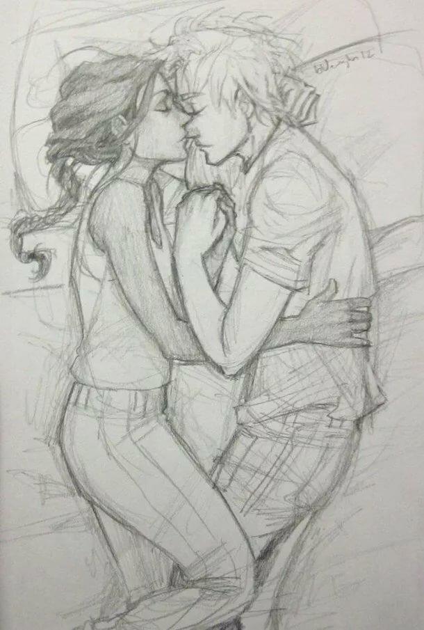 Картинки про, влюбленные картинки нарисованные карандашом