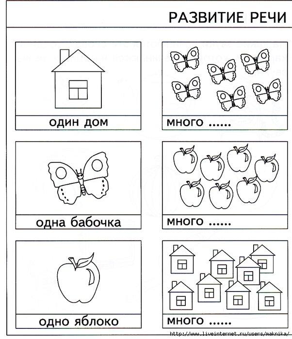 Тест в картинках по развитию речи