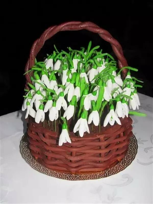 современное торт украсить подснежниками из сливок фото затрону голоса барбоскиных