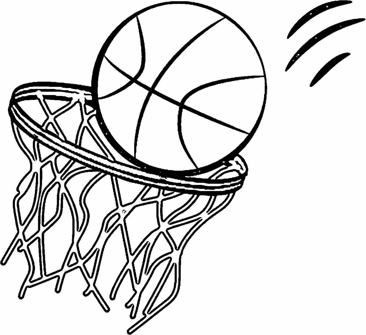 Картинки на тему баскетбол рисунок