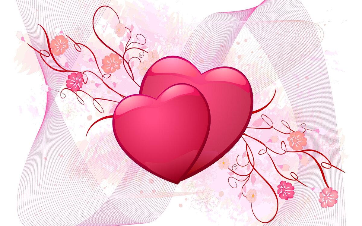 Картинки двух сердец красивые