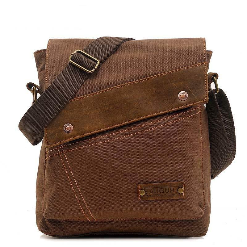 36ef180c566a ... Холщовая Сумка через плечо мужская сумка через плечо винтажная дорожная  сумка дизайнерский бренд высокое качество сумки