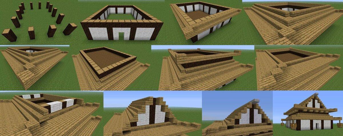 как построить красивый дом в майнкрафте схема #4
