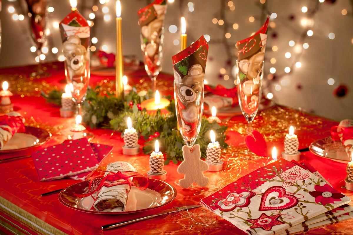 Пожеланием доброй, картинки праздничный стол на новый год