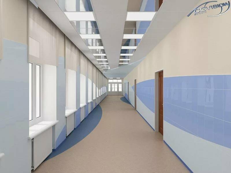 Отделка внутренний коридор спортзала фото