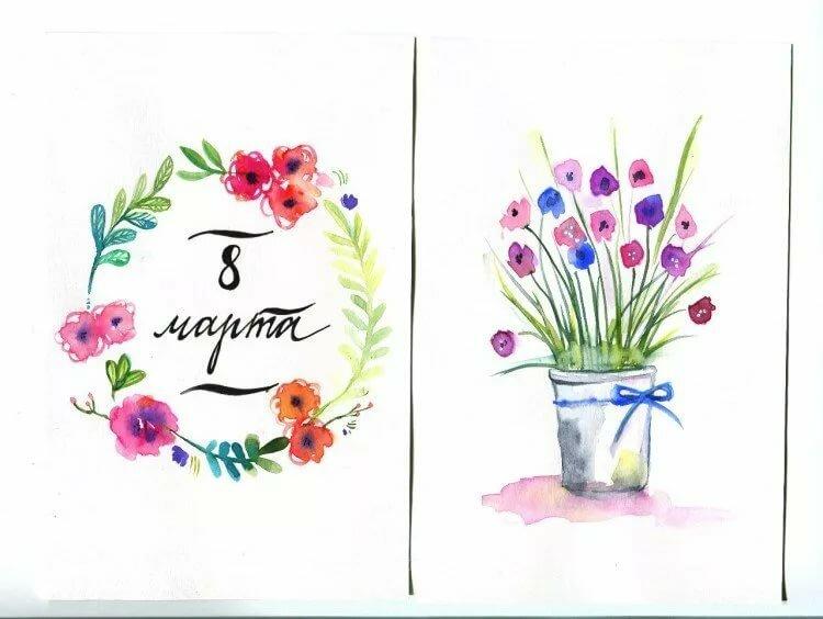 Массажем, что нарисовать маме в открытке на 8 марта маме