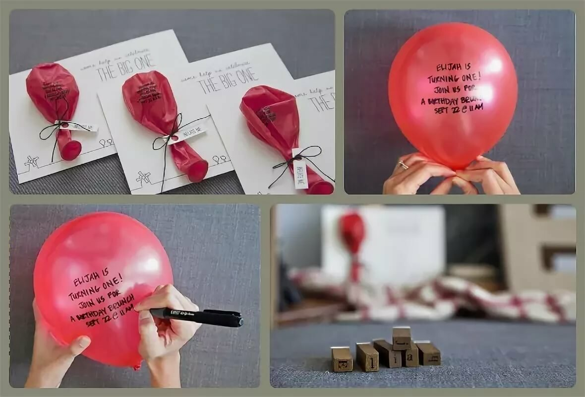 Оригинальные приглашения на день рождения ребенка