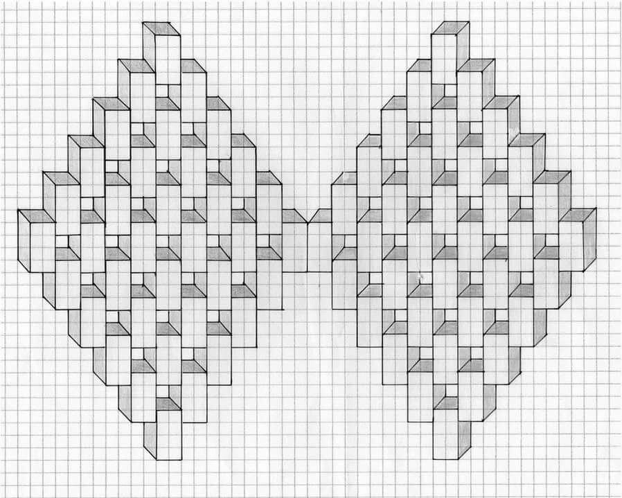 Картинки на бумаги квадратиками