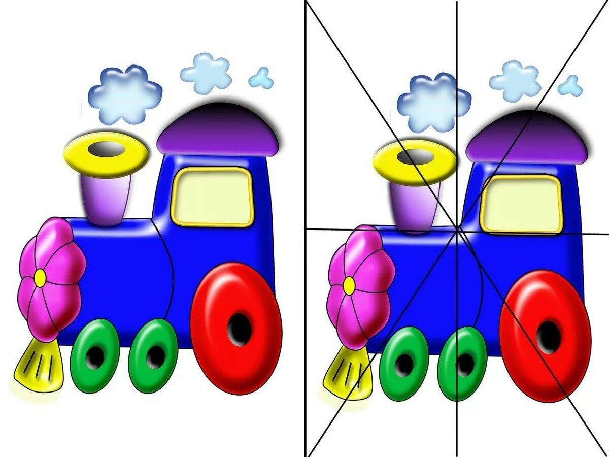 Разрезные картинки для детей 3-4 лет