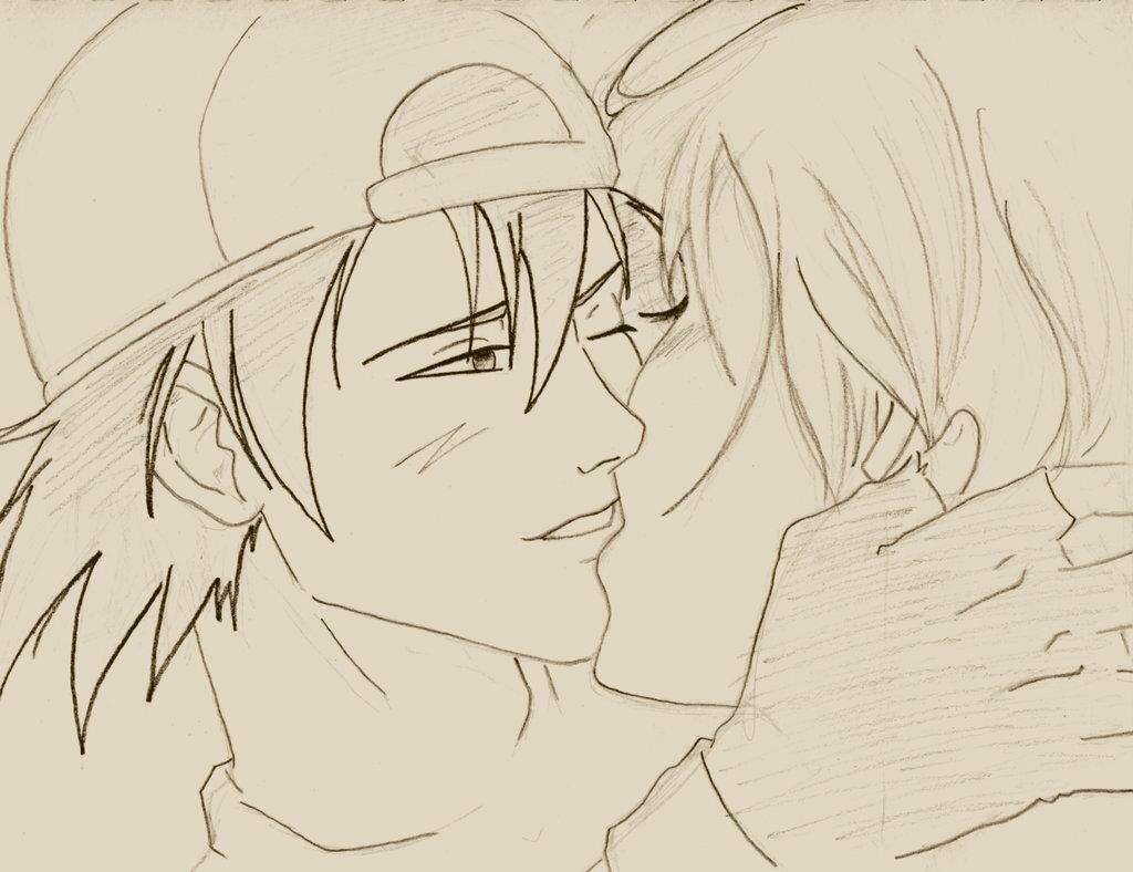 известного картинки для срисовывания карандашом поцелуй плотного картона для