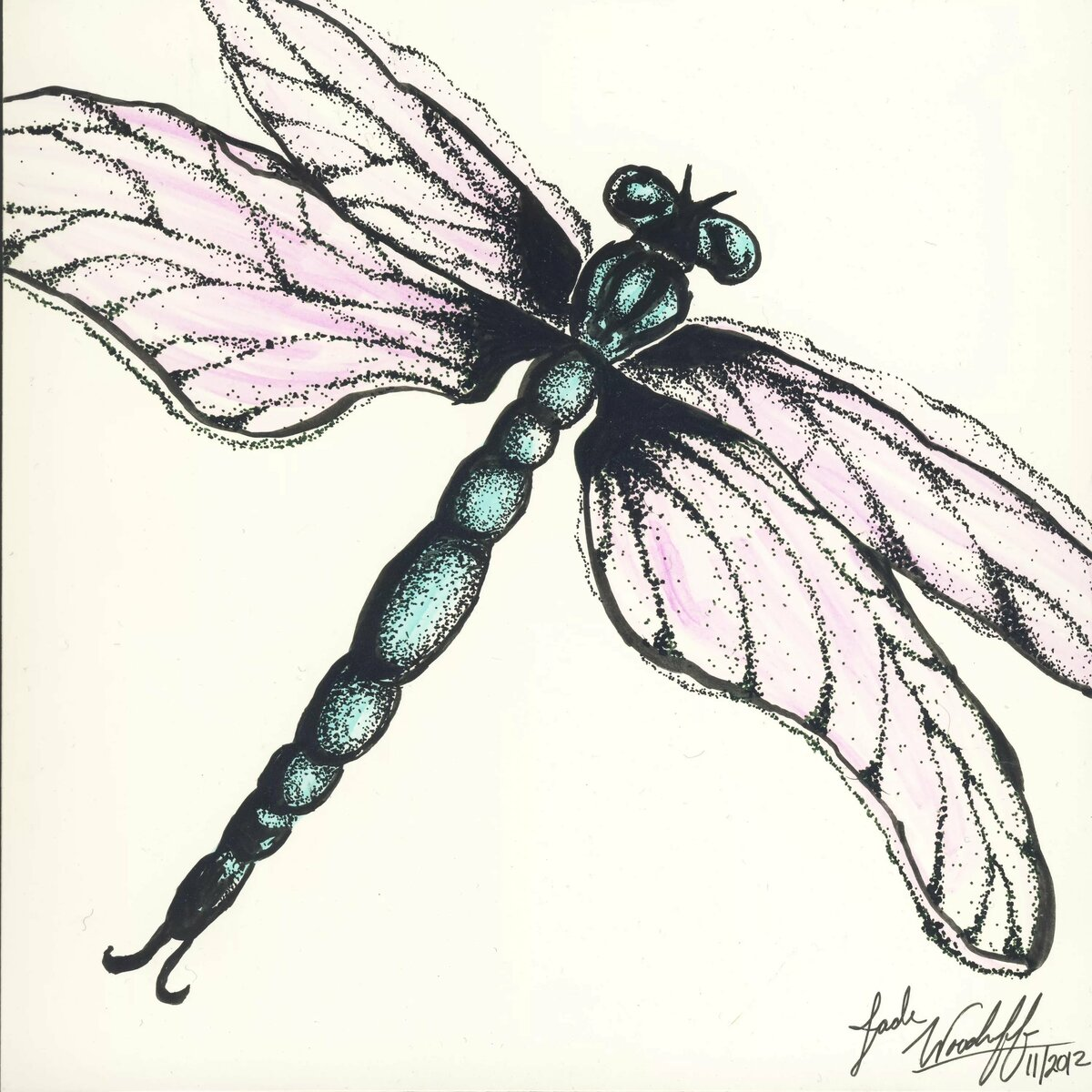 Открытки, картинки стрекозы для срисовки