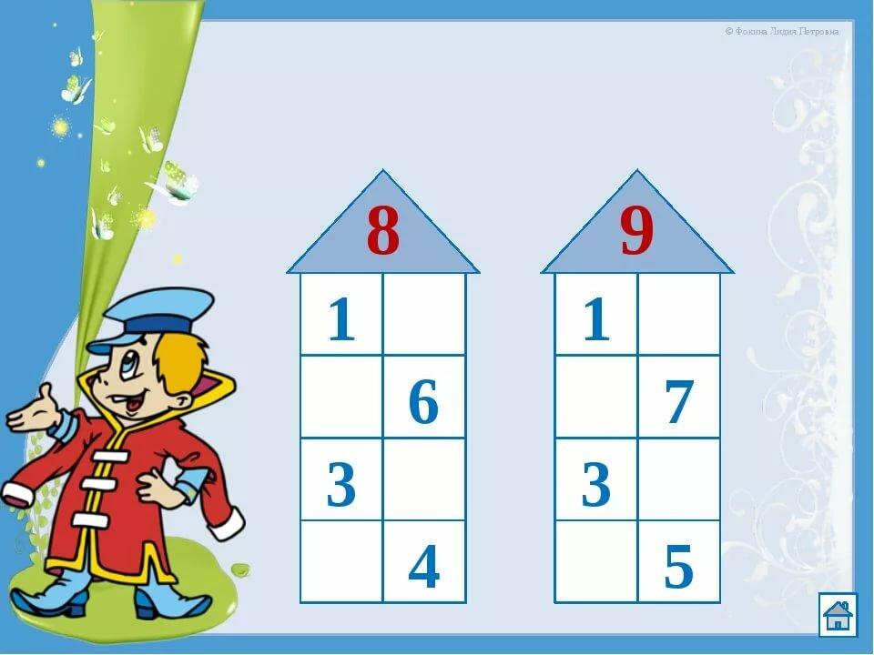 математические картинки в составе чисел вопрос