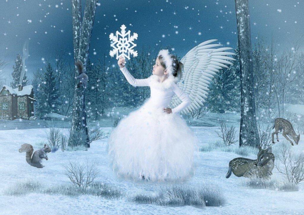 картинки зима ангелочки иметь фото при