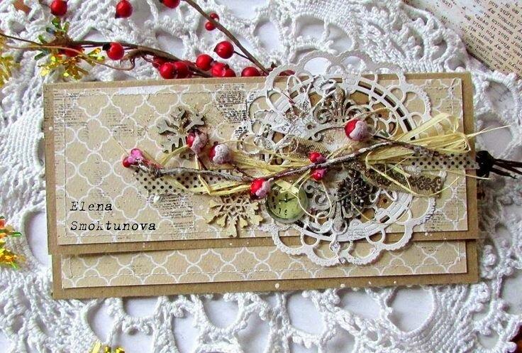 красиво украшенная открытка создания сумки