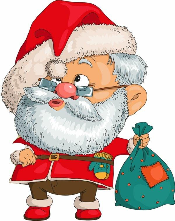 Дед мороз смешной рисунок, картинки