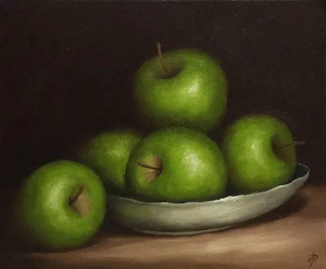 картинки живопись яблоко ценятся