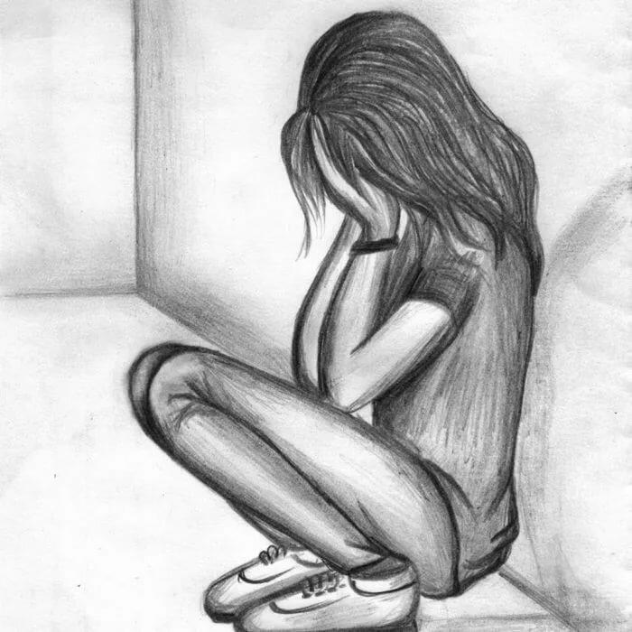 Депрессия картинки для срисовки, яблочным