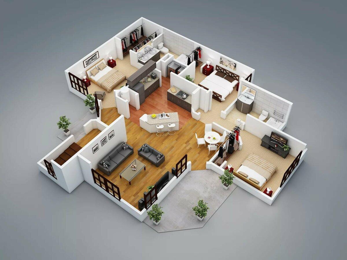 разработать дизайн дома