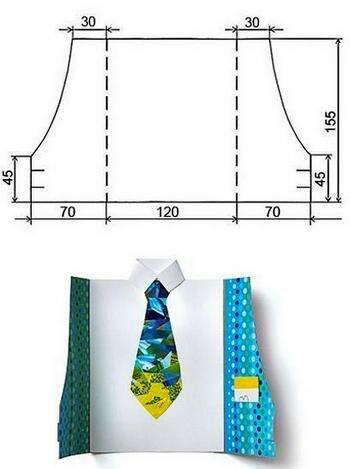 Открытки, открытки рубашки с галстуком своими руками